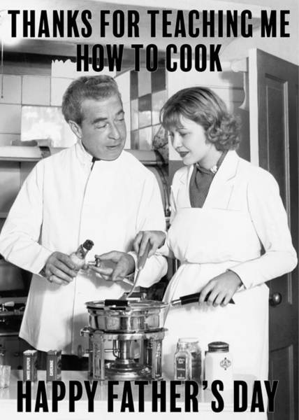Wall Art - Photograph - Cooking Master Class Greeting Card by Communique Cards