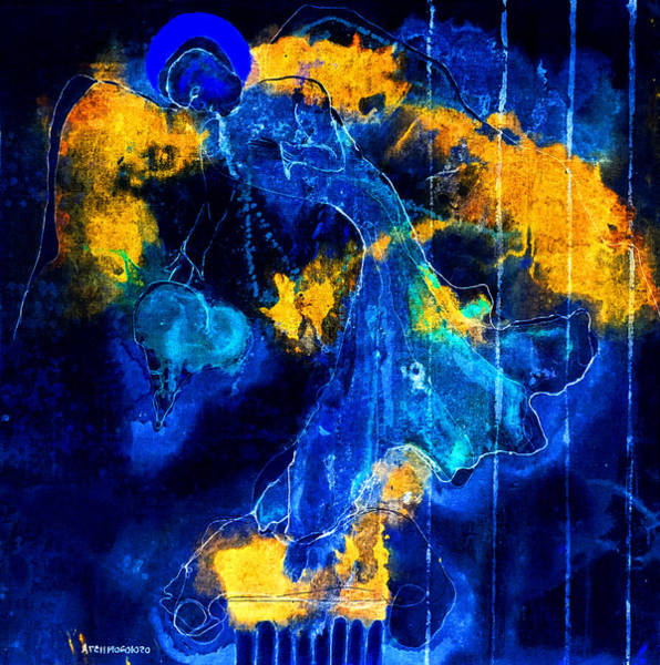 Painting - Learning To Love Without Fear Shall Set You Free II by Giorgio Tuscani