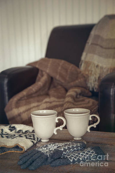 Photograph - Leather Chair With Mugs On Table by Sandra Cunningham