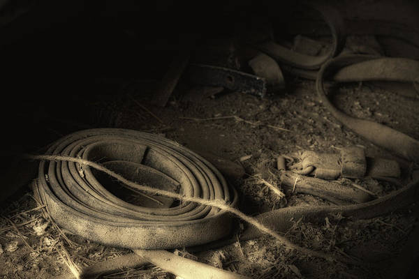 Dusty Photograph - Leather Strap Still Life by Tom Mc Nemar