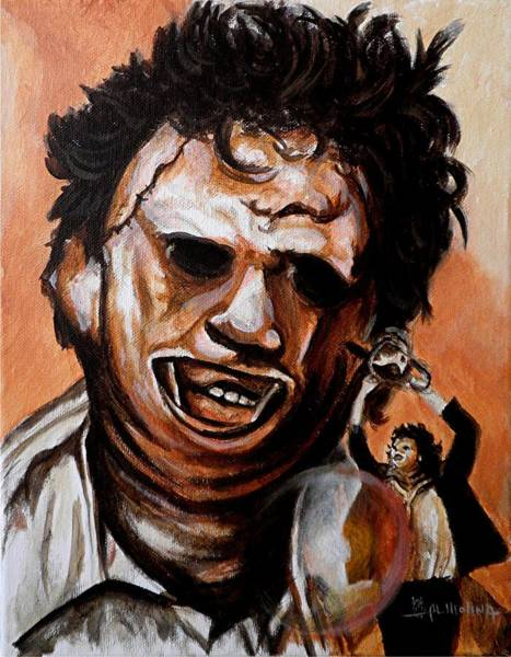 Wall Art - Painting - Leatherface Unleashed by Al  Molina