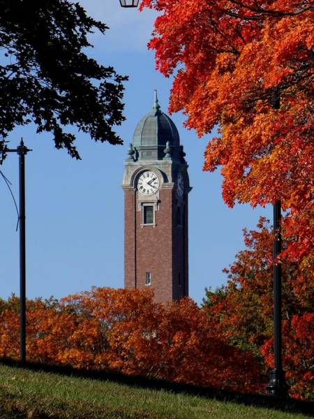 Wall Art - Photograph - Leavenworth Grant Hall Tower by Keith Stokes