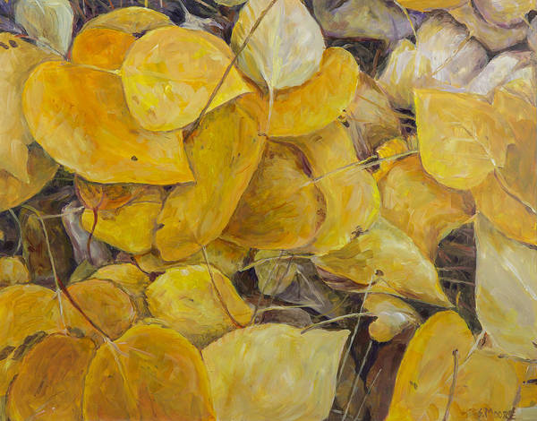 Painting - Leaves Alone by Susan Moore