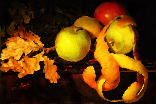 Digital Art - Leaves Fruits And Peels by Charlie Roman