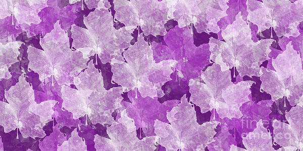 Photograph - Leaves In Radiant Orchid by Andee Design