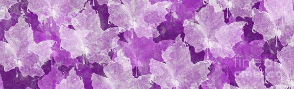 Digital Art - Leaves In Radiant Orchid Panorama by Andee Design