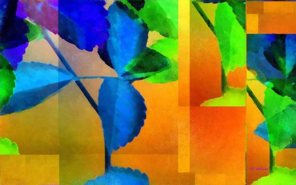 Painting - Leaves Interrupted by RC DeWinter