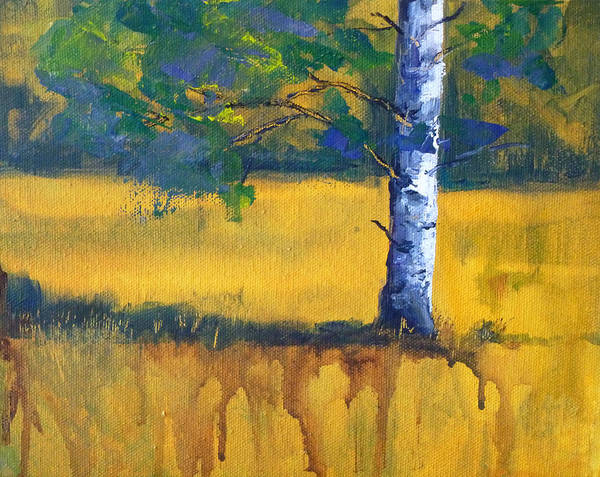 Wall Art - Painting - Leaving A Shadow by Nancy Merkle