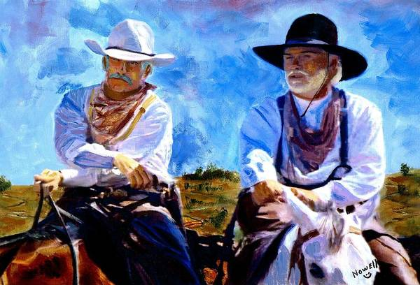 Songbird Wall Art - Painting - Leaving Lonesome Dove by Peter Nowell