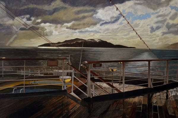 Queen Charlotte Sound Wall Art - Painting - Leaving Queen Charlotte Sound by Thu Nguyen