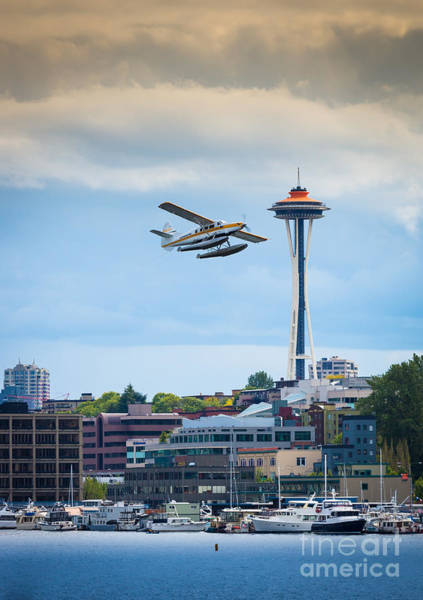 Space Needle Wall Art - Photograph - Leaving Seattle by Inge Johnsson