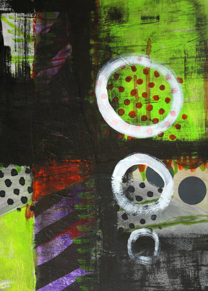 Urban Expressions Wall Art - Painting - Leaving The Dark Abstract  by Nancy Merkle