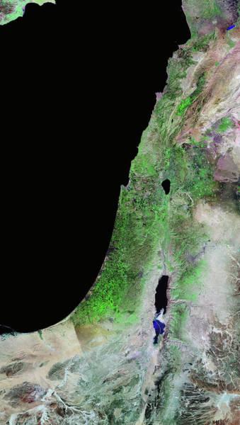 Wall Art - Photograph - Lebanon And Israel by Nasa/science Photo Library
