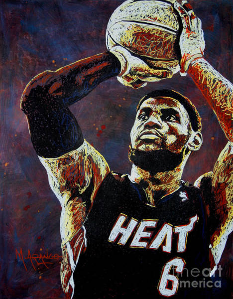3 Painting - Lebron James Mvp by Maria Arango