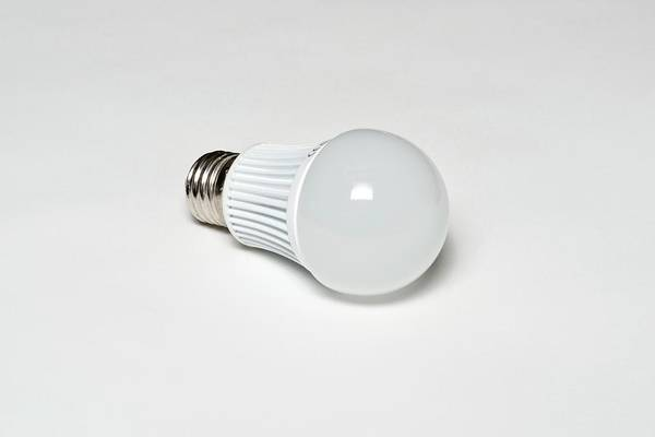 Energy-saving Wall Art - Photograph - Led Light Bulb by Science Photo Library