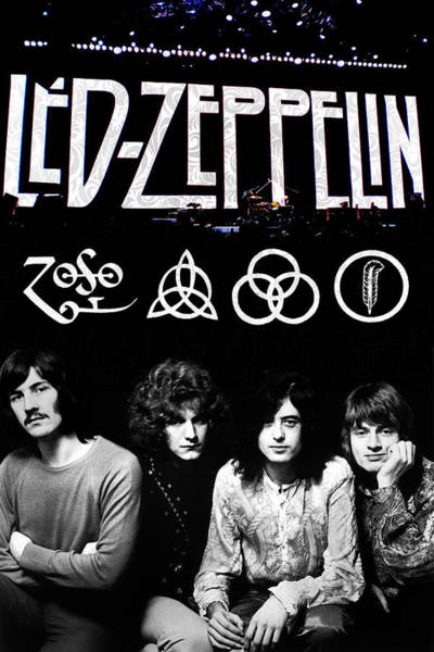 Musician Wall Art - Digital Art - Led Zeppelin by FHT Designs