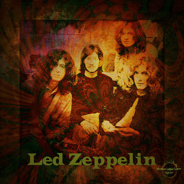 Rock Music Jimmy Page Wall Art - Digital Art - Led Zeppelin - Kashmir by Absinthe Art By Michelle LeAnn Scott