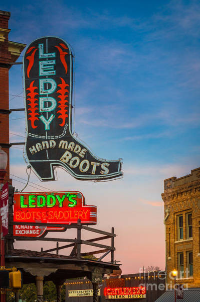 Neon Photograph - Leddy Boots by Inge Johnsson