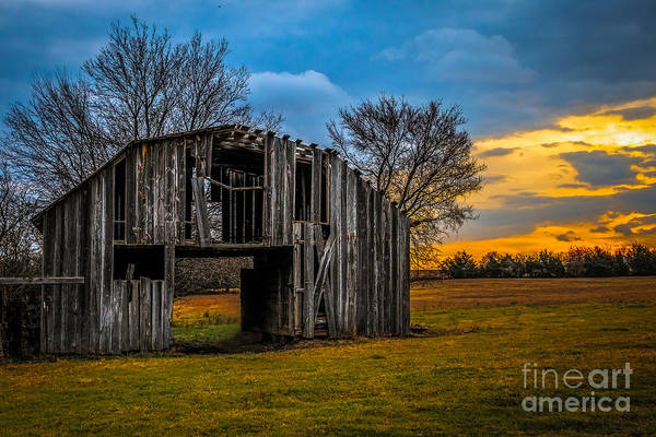 Photograph - Leds Barn by Larry McMahon
