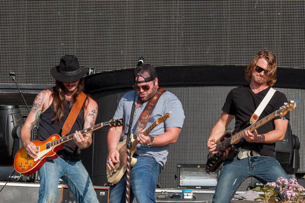 Summerfest Photograph - Lee Brice 2 by Mike Burgquist