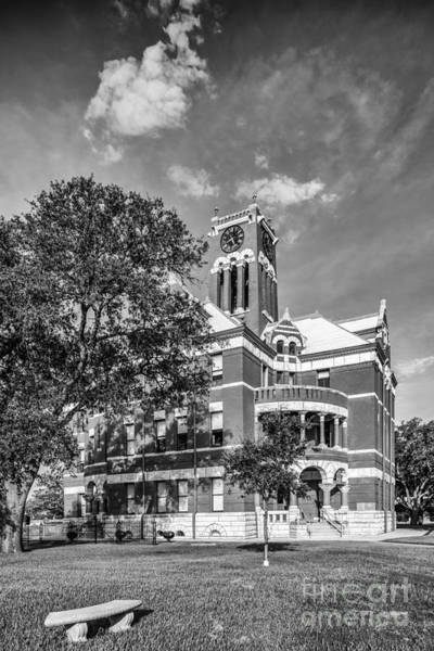 Wall Art - Photograph - Lee County Courthouse In Giddings Texas by Silvio Ligutti
