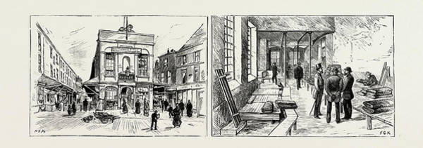 Wall Art - Drawing - Leeds, The Shambles With Fleet Street On The Left by English School