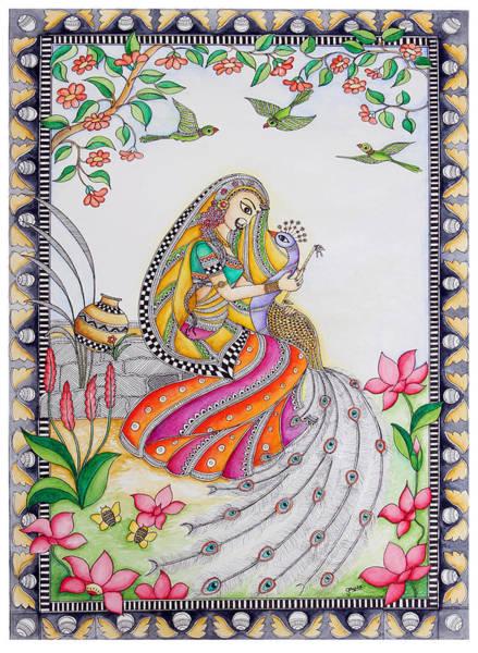 Iskcon Drawing - Leela by Gaura Aggarwal