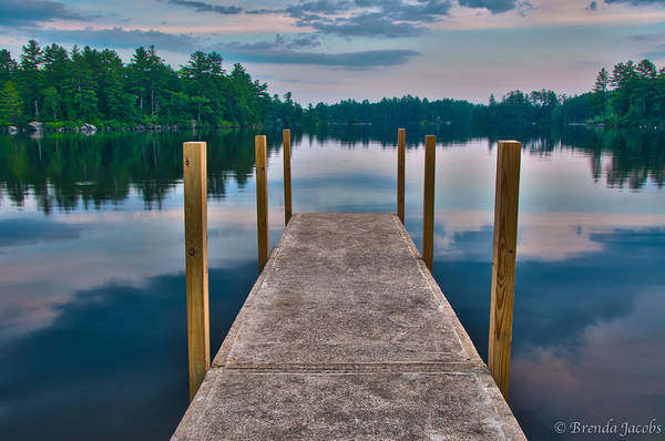 Photograph - Lees Mills Dock by Brenda Jacobs