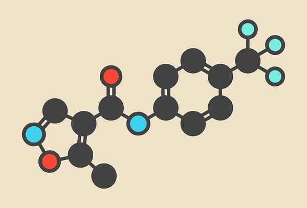 Modified Photograph - Leflunomide Drug Molecule by Molekuul