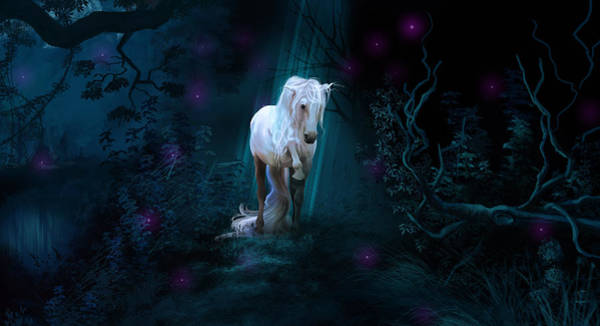 Andalusian Stallion Wall Art - Digital Art - Left Alone by Kate Black