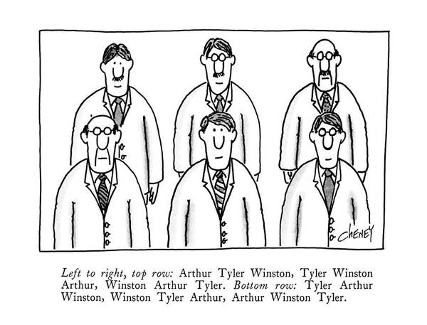 Row Drawing - Left To Right by Tom Cheney
