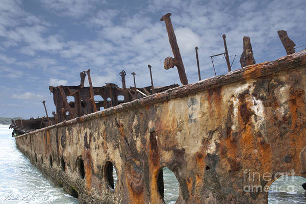 Wall Art - Photograph - Left To Rust by Linda Lees