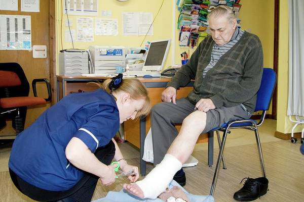 Bandage Photograph - Leg Care by Life In View/science Photo Library