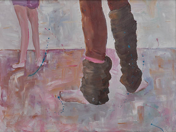 Painting - Leg Warmers by Paulette B Wright