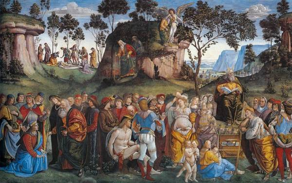 Apostolic Palace Wall Art - Painting - Legacy And Death Of Moses by Luca Signorelli