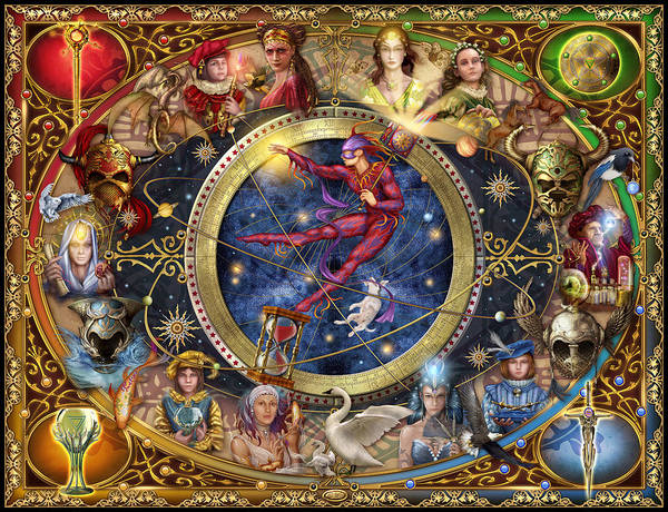 Witchcraft Digital Art - Legacy Of The Divine Tarot by MGL Meiklejohn Graphics Licensing