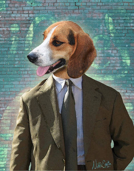 Wall Art - Digital Art - Legal Beagle by Nikki Smith