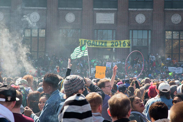Demonstrators Photograph - Legalisation Of Marijuana by Jim West