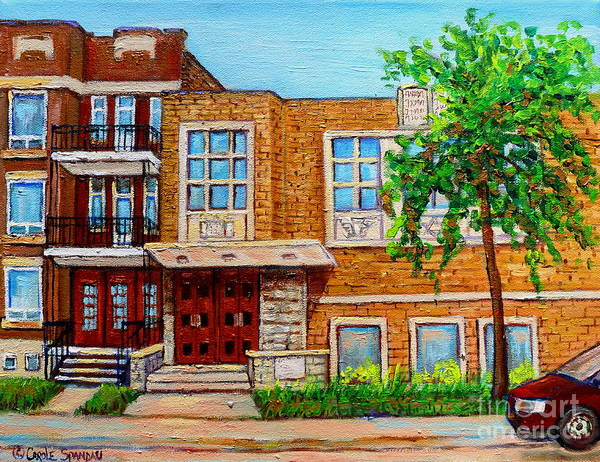 Painting - Legare And Hutchison Synagogue Montreal by Carole Spandau