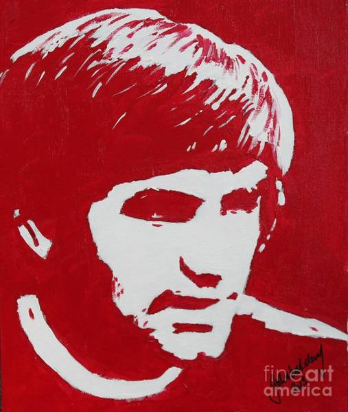 George Best Wall Art - Painting - Legend by John Halliday