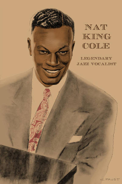 Drawing - Legendary Jazz Vocalist by Clifford Faust