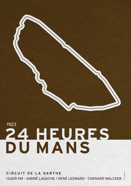 Limited Edition Wall Art - Digital Art - Legendary Races - 1923 24 Heures Du Mans by Chungkong Art