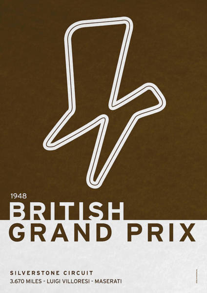 Wall Art - Digital Art - Legendary Races - 1948 British Grand Prix by Chungkong Art