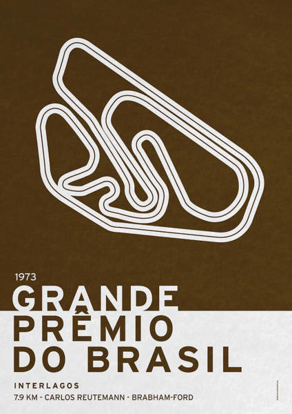 Limited Edition Wall Art - Digital Art - Legendary Races - 1973 Grande Premio Do Brasil by Chungkong Art