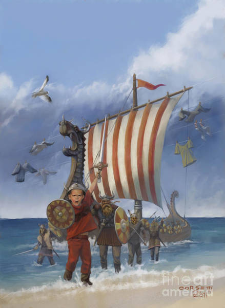 Painting - Legendary Viking by Rob Corsetti