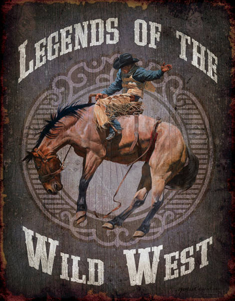 Painting - Legends Of The Wild West by JQ Licensing