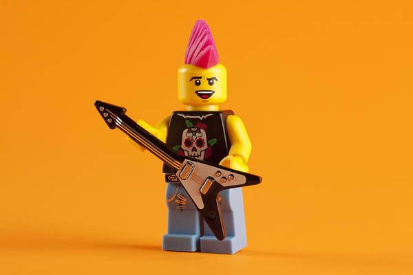 Wall Art - Photograph - Lego Punk Rocker by Samuel Whitton
