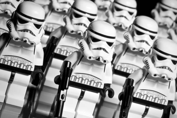 Guy Photograph - Lego Storm Trooper Army by Samuel Whitton