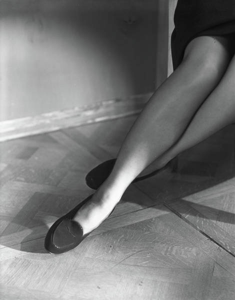 Body Part Photograph - Legs Of Carroll Boissevain Wearing Flat Loafers by Horst P. Horst