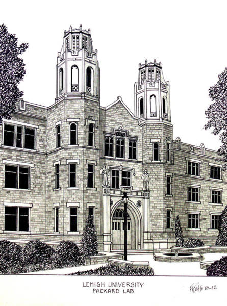 Lehigh University Wall Art - Drawing - Lehigh University by Frederic Kohli